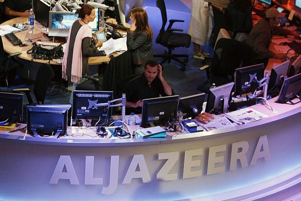 Al Jazeera newsroom