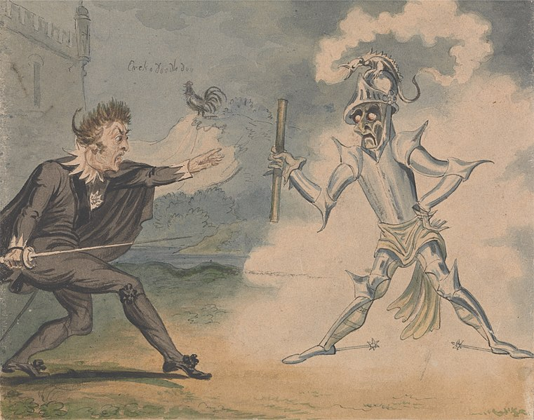 Hamlet and Ghost. George Cruikshank c.1825. Courtesy of Bing Images  Creative Commons.